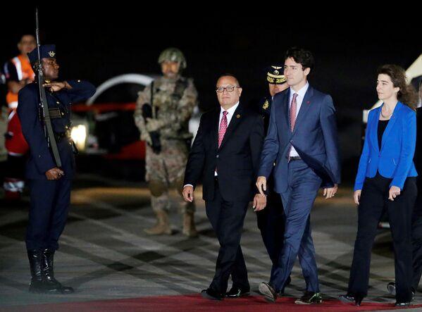 Kanadský premiér Justin Trudeau na mezinárodním summitu APEC v Peru - Sputnik Česká republika