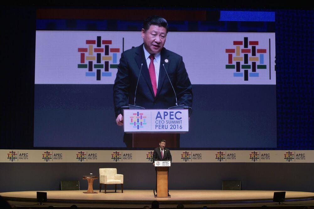Čínský prezident Si Ťin-pching na mezinárodním summitu APEC v Peru