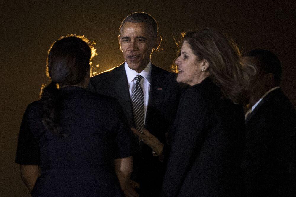 Americký prezident Barack Obama na mezinárodním summitu APEC v Peru