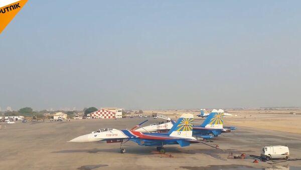 Russkije viťazi na Iran Air Show 2016 - Sputnik Česká republika