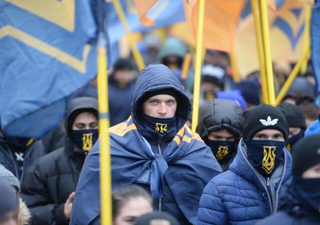Ukrajinští protěstující