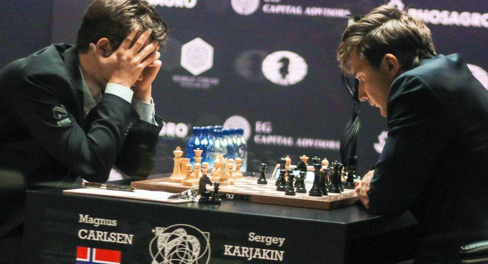 Sergej Karjakin a Magnus Carlsen