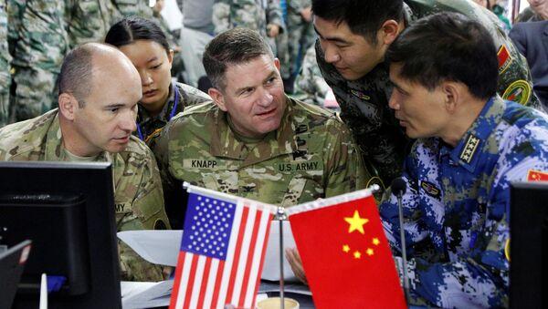 Čínští a američtí vojáci během cvičení - Sputnik Česká republika