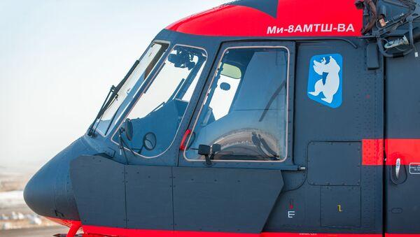 Letecká cvičení arktického vrtulníku Mi-8AMTSh-VA - Sputnik Česká republika
