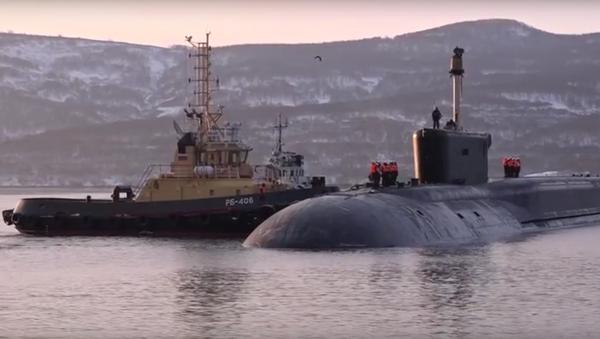 Atomová ponorka Alexandr Něvský se vrací na základnu - Sputnik Česká republika