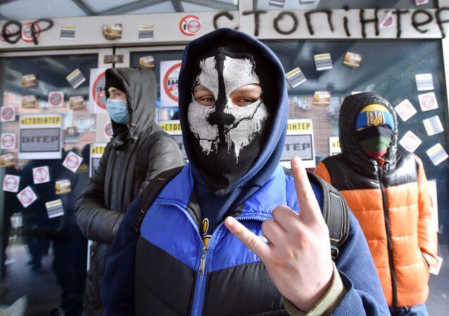 Aktivisté blokují televizní stanici Inter