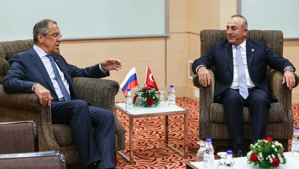 Ministři zahraničních věcí Ruska a Turecka - Sputnik Česká republika