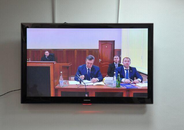 Výslech Viktora Janukovyče