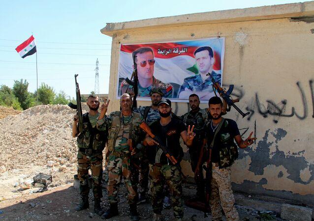 Syrští vojáci v provincii Aleppo
