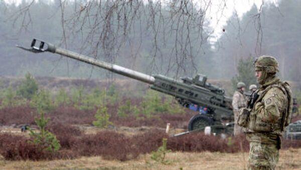 Vojáci NATO v Lotyšsku - Sputnik Česká republika