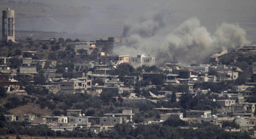 Syrské město na Golanských výšinách