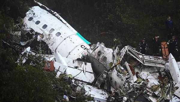 Místo havárie brazilského letadla v Kolumbii - Sputnik Česká republika