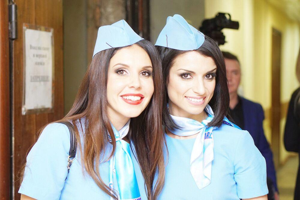 Soutěž TOP nejkrásnějších letušek Ruska