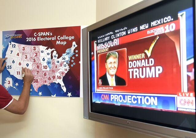 Rating Donalda Trumpa na obrazovce
