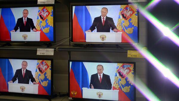Трансляция ежегодного послания Владимира Путина Федеральному собранию - Sputnik Česká republika