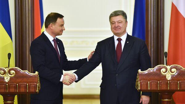 Prezidenti Polska a Ukrajiny - Sputnik Česká republika