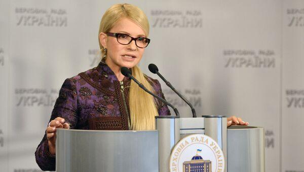 Předsedkyně strany Otčina (Baťkivščyna) Julija Tymošenková - Sputnik Česká republika