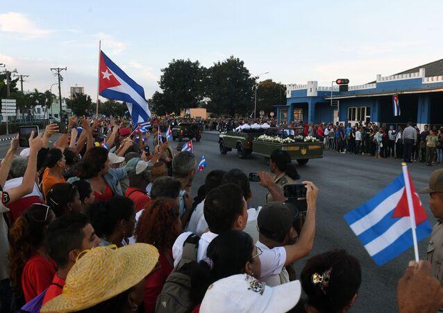 Jak se Kuba loučila s Fidelem Castrem