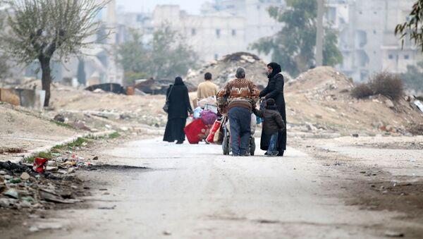 Běženci v okolí Aleppa - Sputnik Česká republika