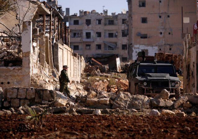 Ruský voják v Aleppu