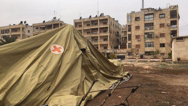 Pozůstatky ruské nemocnice v Aleppu - Sputnik Česká republika