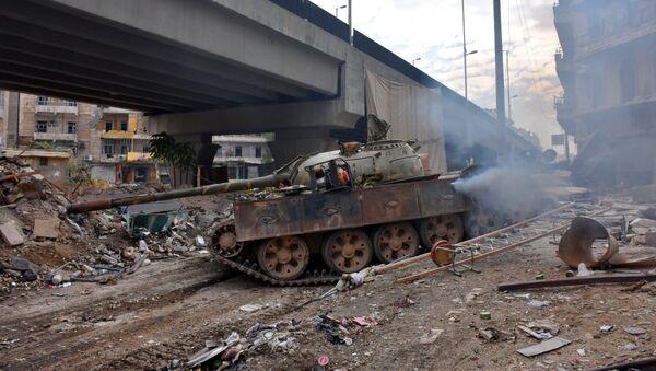 Syrská vojska v Aleppu - Sputnik Česká republika