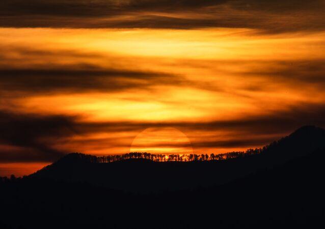 Západ slunce v Soči