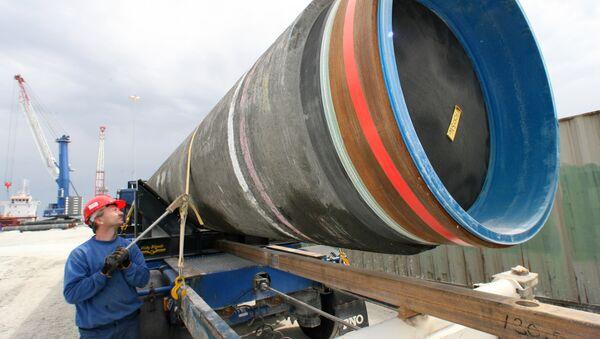 Budování plynovodu Severní proud - Sputnik Česká republika