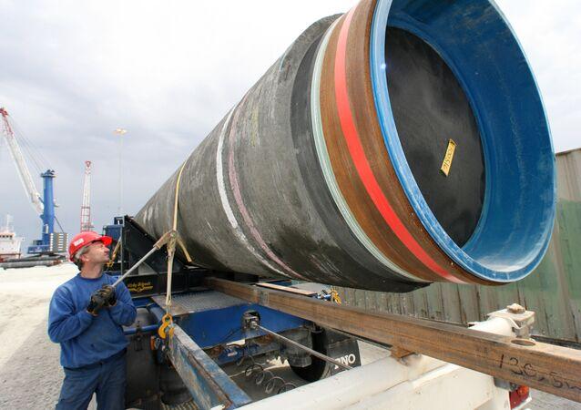 Budování plynovodu Severní proud