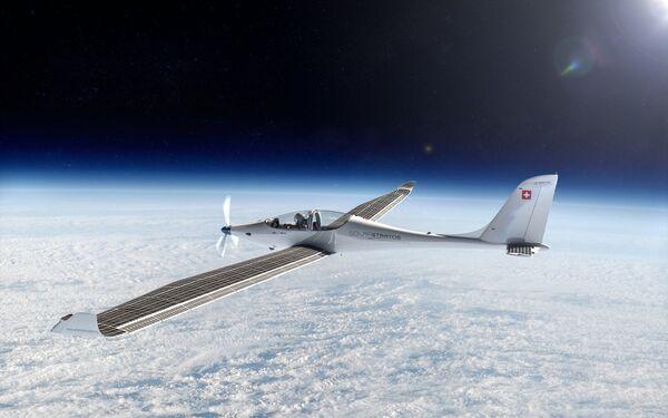Cesta k rekordu. Letadlo na solární baterie pro pout´ do stratosféry - Sputnik Česká republika