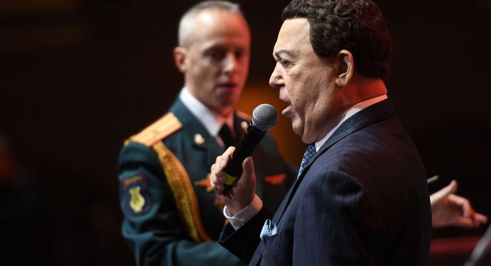 Ruský zpěvák Iosif Kobzon