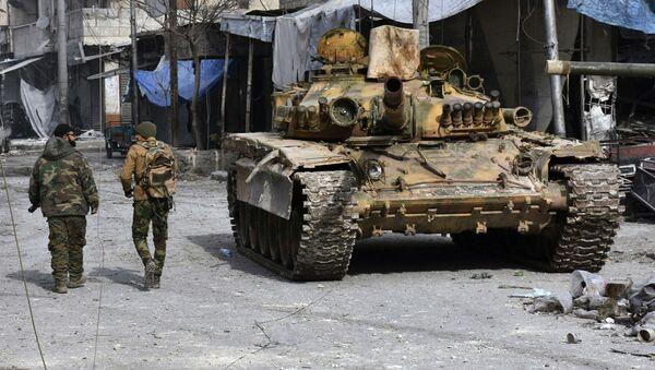 Syrští vojáci na východě Aleppa - Sputnik Česká republika
