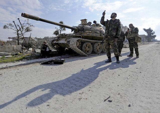 Vládní vojska v Aleppu