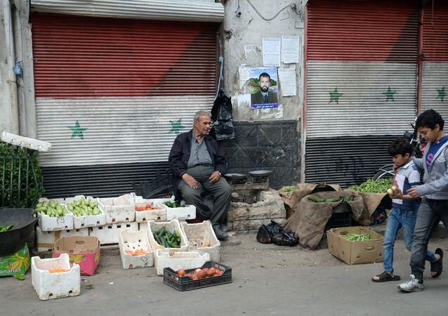 Prodavač zeleniny v Damašku