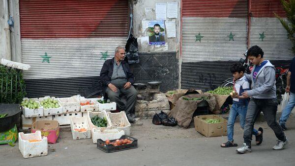 Prodavač zeleniny v Damašku - Sputnik Česká republika