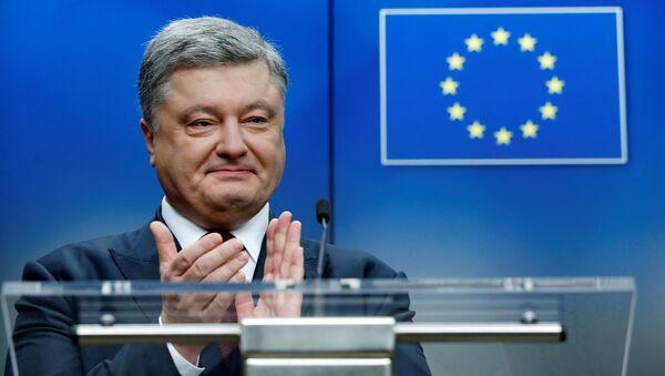 Petro Porošenko během summitu EU-Ukrajina. Archivní foto - Sputnik Česká republika