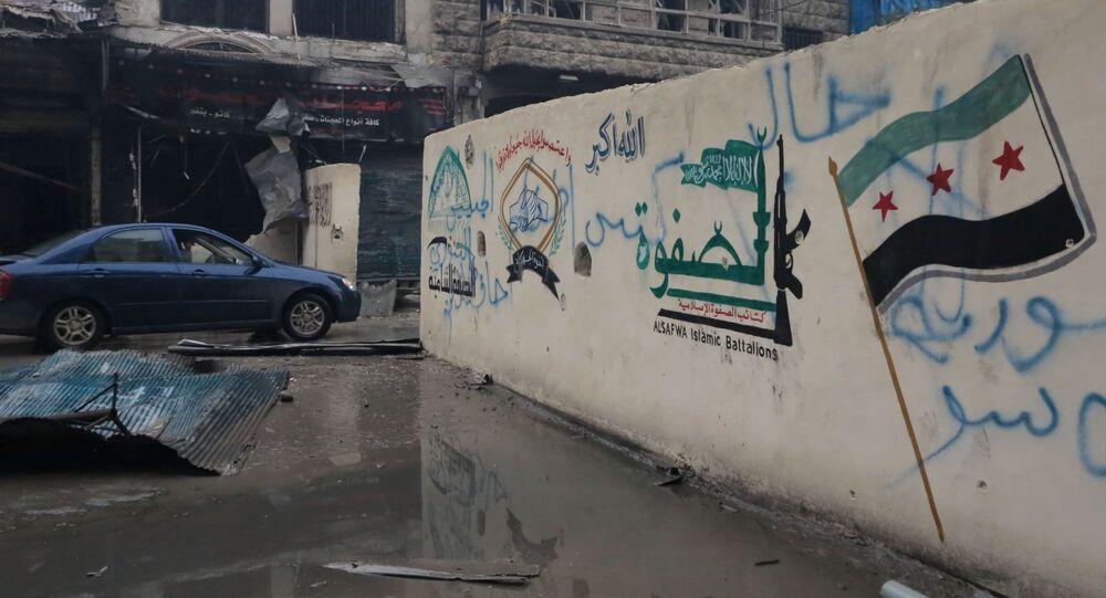 Osvobozená čtvrť ve východním Aleppu