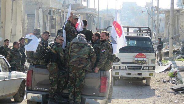Сирийские военнослужащие в восточном Алеппо - Sputnik Česká republika
