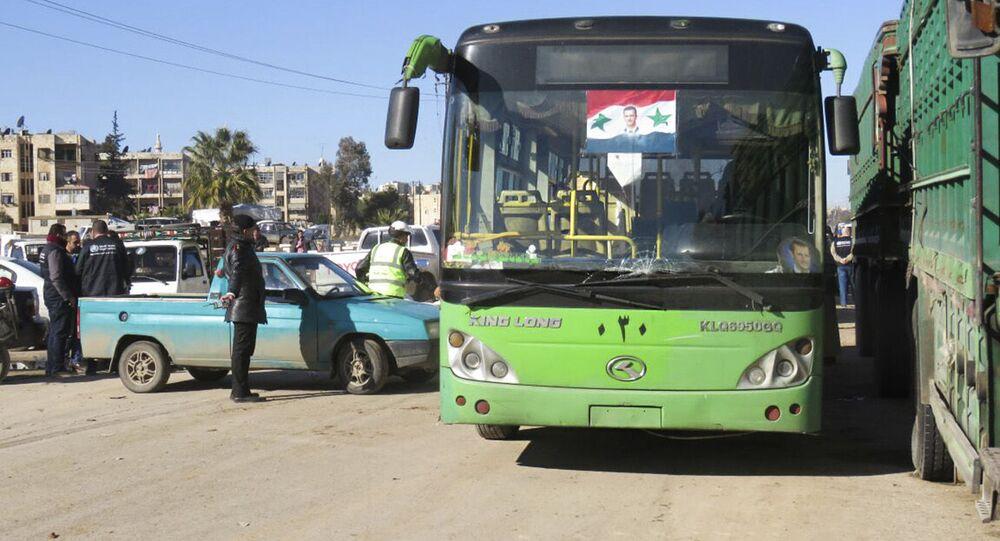 Autobus v Aleppu