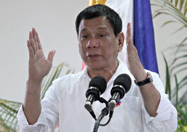 Filipínský prezident Rodrigo Duterte. Ilustrační foto