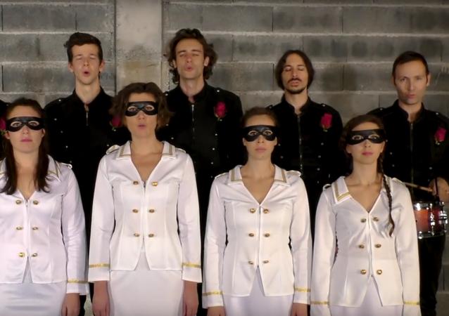 Francouzská kapela nahrála hymnu pro Donbas
