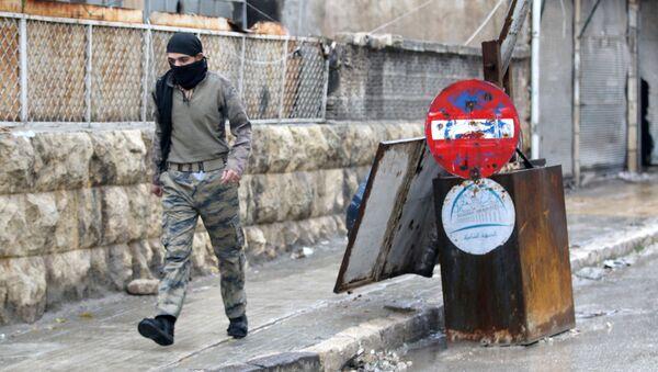 Bojovník SSA v Aleppu - Sputnik Česká republika
