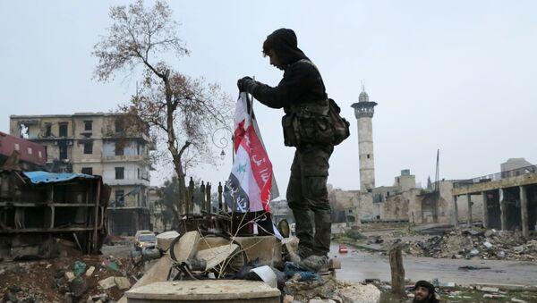 Syrští vojáci ve východním Aleppu - Sputnik Česká republika