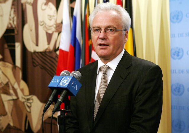 Stálý zástupce Ruska v OSN Vitalij Čurkin