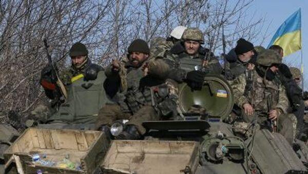 Ukrajinští vojáci u Debalceve. Ilustrační foto - Sputnik Česká republika