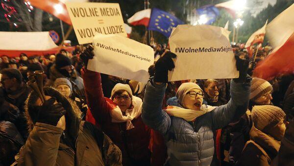 Protesty v Polsku - Sputnik Česká republika