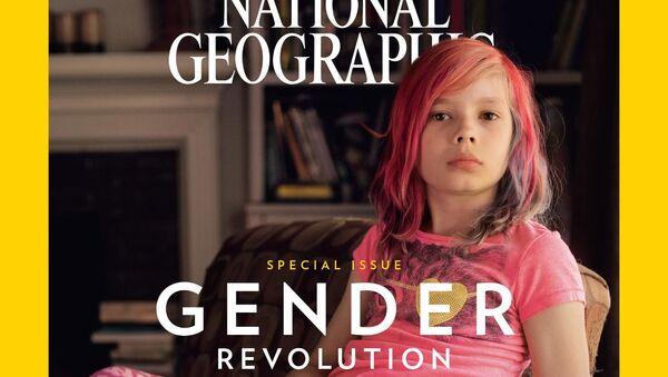 Devítiletý chlapec Avery Jackson na obálce časopisu National Geographic - Sputnik Česká republika