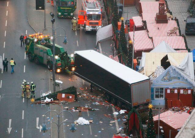 Místo útoku v Berlíně