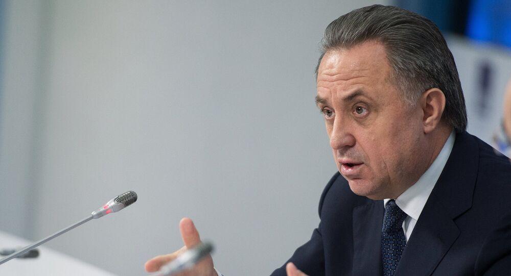 Vicepremiér Ruska a prezident Ruského fotbalového svazu Vitalij Mutko