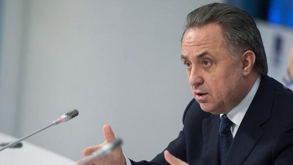 Vicepremiér Ruska a prezident Ruského fotbalového svazu Vitalij Mutko - Sputnik Česká republika